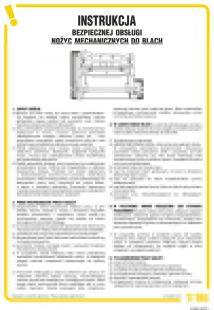 Instrukcja bezpiecznej obsługi nożyc mechanicznych do blach - IAB02