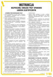 Instrukcja bezpiecznej obsługi przy spawaniu łukiem elektrycznym - IAC02