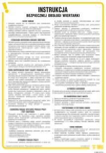 Instrukcja bezpiecznej obsługi wiertarki - IAB03