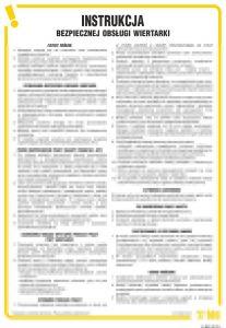 Instrukcja bezpiecznej obsługi wiertarki - IAB03 - Prace szczególnie niebezpieczne – przepisy ogólne