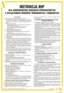 Instrukcja BHP dla konserwatora urządzeń dźwignicowych z wyłączeniem dźwigów towarowych i osobowych - IAG05