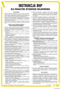 Instrukcja BHP dla magazynu wysokiego składowania - IAH04