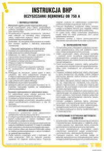 Instrukcja BHP dla oczyszczarki bębnowej OB 750A - IAD01
