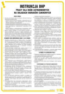 Instrukcja BHP dla osób zatrudnionych na składach odbioru buraków cukrowych - IAT05