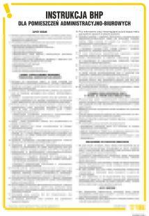 Instrukcja BHP dla pomieszczeń administracyjno-biurowych - IAR04
