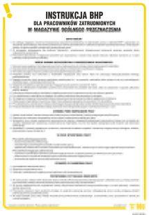 Instrukcja BHP dla pracowników zatrudnionych w magazynie ogólnego przeznaczenia - IAH01