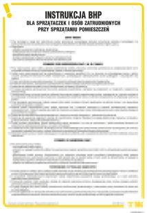 Instrukcja BHP dla sprzątaczek i osób zatrudnionych przy sprzątaniu pomieszczeń - IAT03