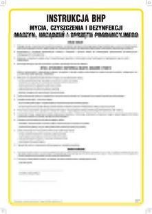 Instrukcja BHP mycia, czyszczenia i dezynfekcji maszyn, urządzeń i sprzętu produkcyjnego - IAO50