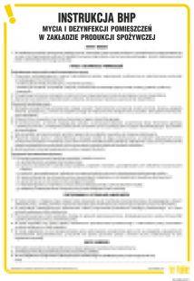 Instrukcja BHP mycia i dezynfekcji pomieszczeń w zakładzie produkcji spożywczej - IAO44