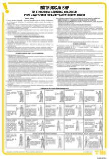 Instrukcja BHP na stanowisku linowego-hakowego przy zawieszaniu prefabrykatów budowlanych - IAG09