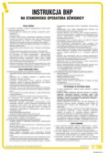 Instrukcja BHP na stanowisku operatora dźwignicy - IAG06