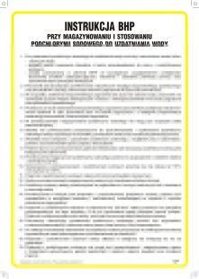 Instrukcja BHP przy magazynowaniu i stosowaniu podchlorynu sodowego do uzdatniania wody - IAE02