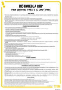 Instrukcja BHP przy obsłudze aparatu typu diadynamik - IAX06