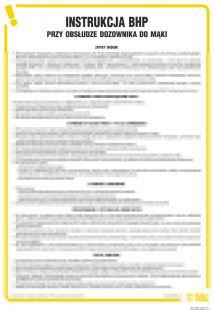 Instrukcja BHP przy obsłudze dozownika do mąki - IAN04