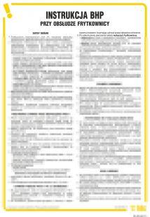 Instrukcja BHP przy obsłudze frytkownicy - IAO06