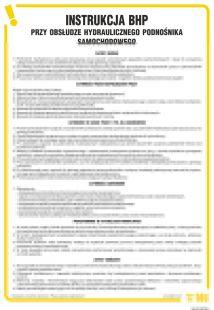 Instrukcja BHP przy obsłudze hydraulicznego podnośnika samochodowego - IAI03