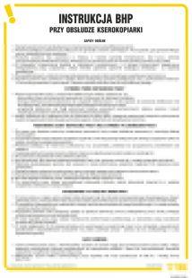 Instrukcja BHP przy obsłudze kserokopiarki - IAR02