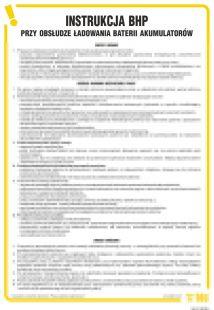 Instrukcja BHP przy obsłudze ładowania baterii akumulatorów - IAI01