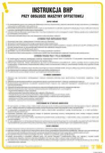Instrukcja BHP przy obsłudze maszyny offsetowej - IAP01