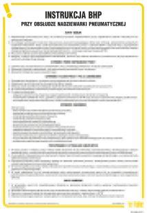 Instrukcja BHP przy obsłudze nadziewarki pneumatycznej - IAO35