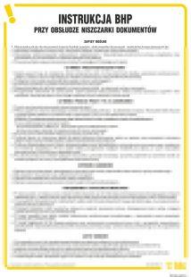 Instrukcja BHP przy obsłudze niszczarki  dokumentów - IAR03