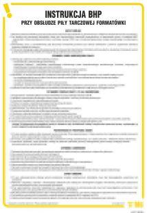 Instrukcja BHP przy obsłudze piły tarczowej formatówki - IAF11