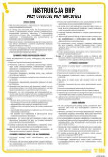 Instrukcja BHP przy obsłudze piły tarczowej - IAF02
