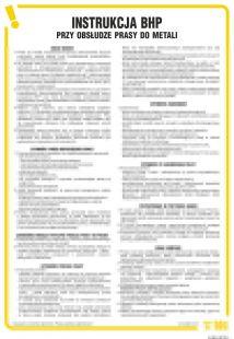 Instrukcja BHP przy obsłudze prasy do metali - IAB14