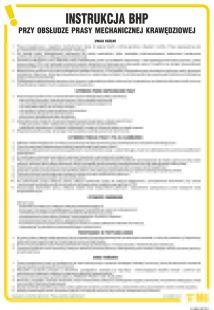 Instrukcja BHP przy obsłudze prasy mechanicznej krawędziowej - IAB24