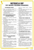 Instrukcja BHP przy obsłudze przecinarki ściernicowej - IAB12 - Instrukcje BHP