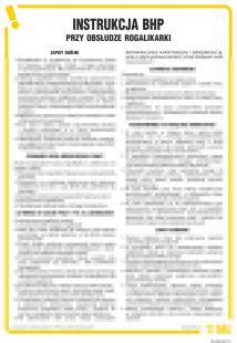 Instrukcja BHP przy obsłudze rogalikarki - IAN06