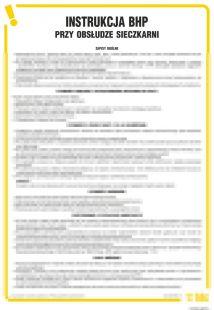 Instrukcja BHP przy obsłudze sieczkarni - IAW22