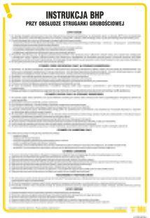 Instrukcja BHP przy obsłudze strugarki grubościowej - IAF09