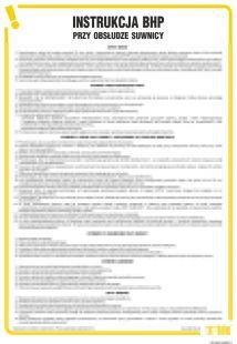 Instrukcja BHP przy obsłudze suwnicy - IAG07
