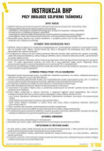 Instrukcja BHP przy obsłudze szlifierki taśmowej - IAF03