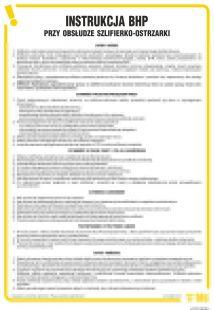 Instrukcja BHP przy obsłudze szlifierko-ostrzarki - IAF15