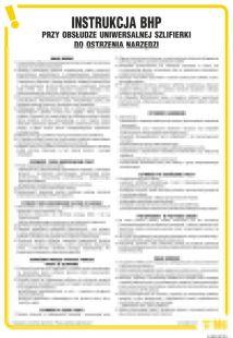 Instrukcja BHP przy obsłudze uniwersalnej szlifierki do ostrzenia narzędzi - IAB18