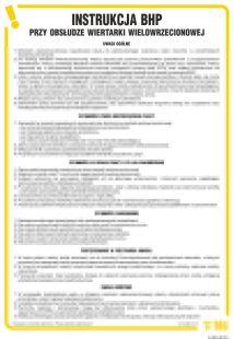 Instrukcja BHP przy obsłudze wiertarki wielowrzecionowej - IAB19