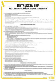 Instrukcja BHP przy obsłudze wózka akumulatorowego - IAG04