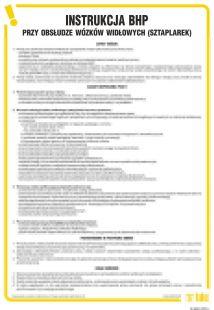 Instrukcja BHP przy obsłudze wózków widłowych (sztaplarek) - IAG03