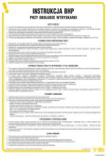 Instrukcja BHP przy obsłudze wtryskarki - IAE03