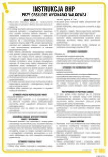 Instrukcja BHP przy obsłudze wycinarki walcowej - IAB23