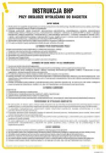 Instrukcja BHP przy obsłudze wydłużarki do bagietek - IAN08