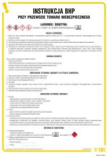 Instrukcja BHP przy przewozie towaru niebezpiecznego (ładunek-benzyna) - IAG11