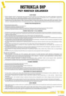 Instrukcja BHP przy robotach szklarskich - IAT09