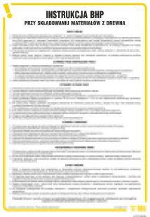 Instrukcja BHP przy składowaniu materiałów z drewna - IAF12