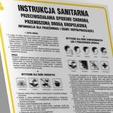 Instrukcja BHP sanitarna przeciwdziałania epidemii chorobą przenoszoną drogą kropelkową - IAX13 - BHP a koronawirus