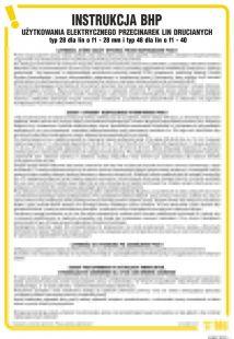 Instrukcja BHP użytkowania elektrycznego przecinarek lin drucianych - IAB07
