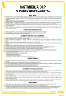 Instrukcja BHP w zakresie elektrolecznictwa - IAX04