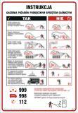 Instrukcja gaszenia pożarów podręcznym sprzętem gaśniczym - instrukcja ppoż - DB050 - Stałe urządzenia gaśnicze